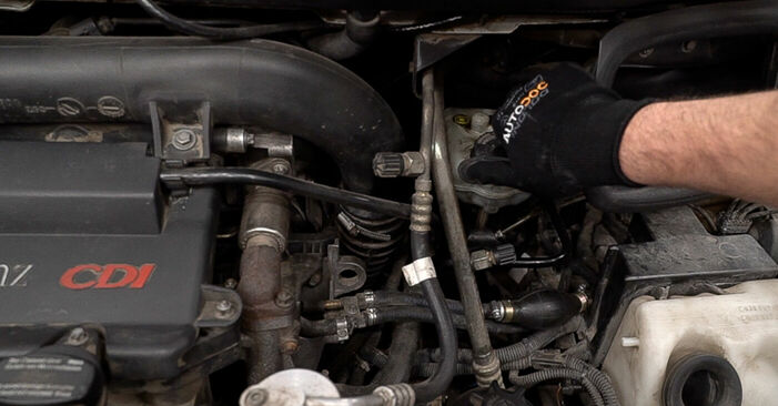 How to change Brake Pads on Mercedes W638 Minibus 1996 - free PDF and video manuals