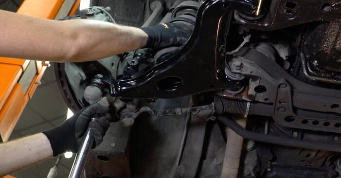 Changing of Control Arm on Mercedes W210 2003 won't be an issue if you follow this illustrated step-by-step guide