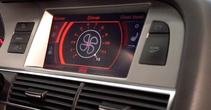 Wechseln Innenraumfilter am AUDI A6 (4F2, C6) 2.7 TDI 2007 selber