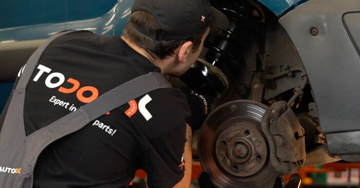 Step-by-step recommendations for DIY replacement Renault Kangoo kc01 2010 1.2 16V Springs