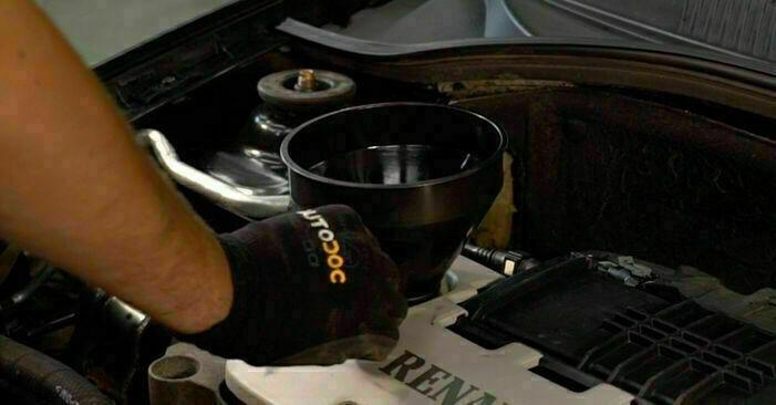 RENAULT CLIO 1.2 Filtr oleju wymiana: przewodniki online i samouczki wideo