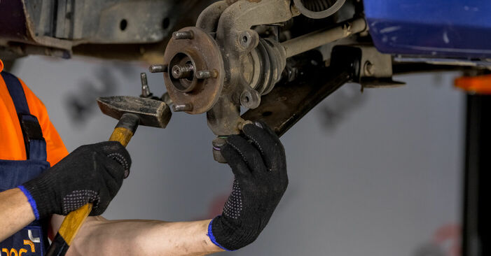 How to change Wheel Bearing on Ford Fiesta V jh jd 2001 - free PDF and video manuals