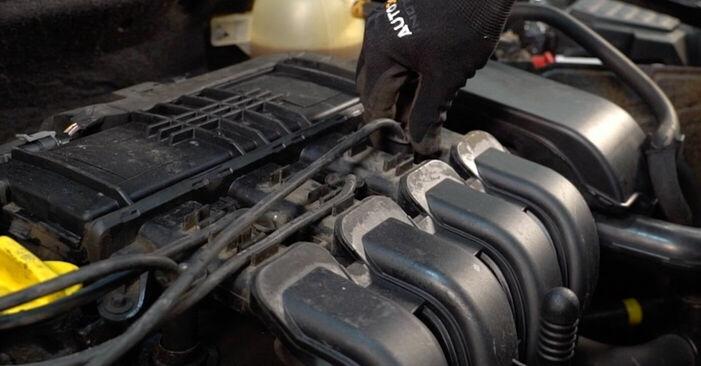 Austauschen Anleitung Zündkerzen am Renault Clio 2 2008 1.2 selbst