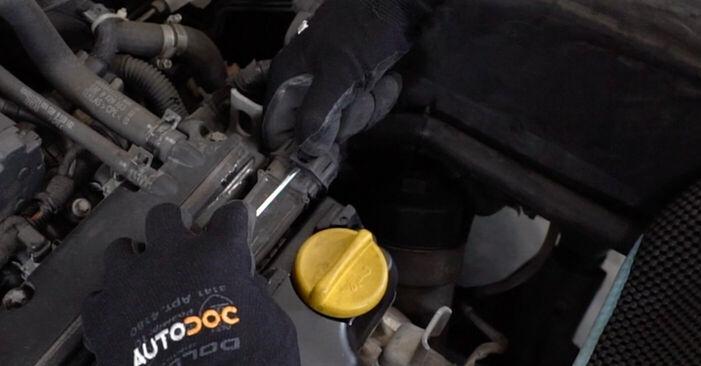 Opel Astra g f48 1.6 (F08, F48) 2000 Πολλαπλασιαστής αντικατάσταση: δωρεάν εγχειρίδια συνεργείου