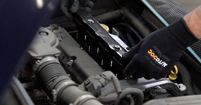 Πόσο δύσκολο είναι να το κάνετε μόνος σας: Πολλαπλασιαστής αντικατάσταση σε Opel Astra g f48 2.0 DI (F08, F48) 2004 - κατεβάστε τον εικονογραφημένο οδηγό