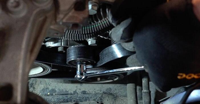 Cât de greu este să o faceți singur: înlocuirea Curea transmisie cu caneluri la Peugeot 208 1 1.4 VTi 2018 - descărcați ghidul ilustrat