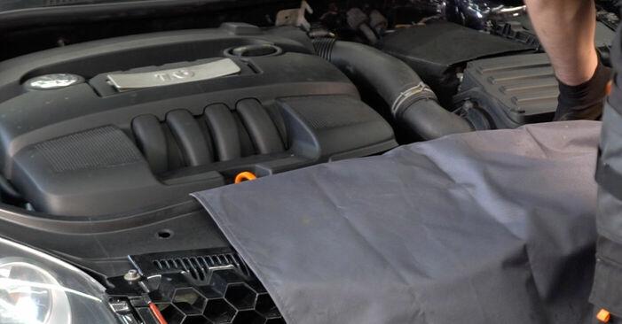 Wie Zündkerzen VW GOLF V (1K1) 1.6 2004 austauschen - Schrittweise Handbücher und Videoanleitungen