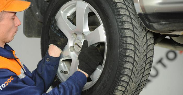 Schritt-für-Schritt-Anleitung zum selbstständigen Wechsel von Nissan X Trail t30 2001 2.2 dCi Koppelstange