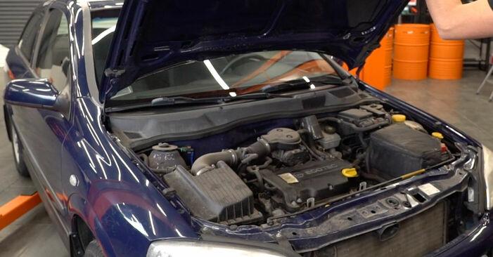 Kā nomainīt Bremžu diski Opel Astra g f48 1998 - bezmaksas PDF un video rokasgrāmatas