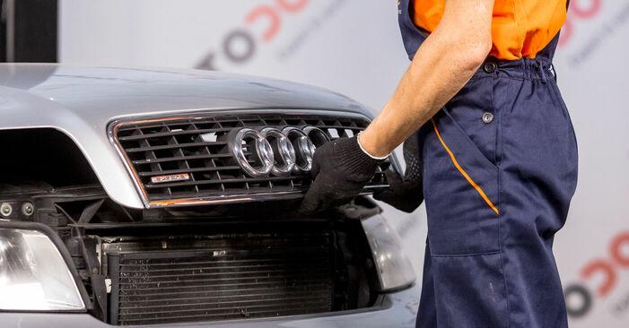 Kā nomainīt Bremžu suports Audi A4 b6 2000 - bezmaksas PDF un video rokasgrāmatas