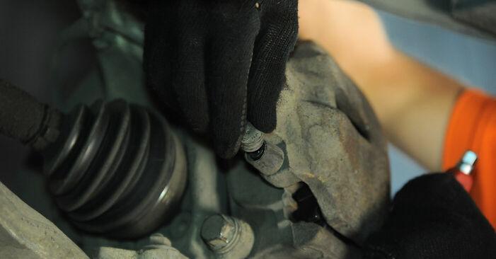 Cik grūti ir veikt Bremžu suports nomaiņu Audi A4 b6 2.5 TDI 2001 - lejupielādējiet ilustrētu ceļvedi