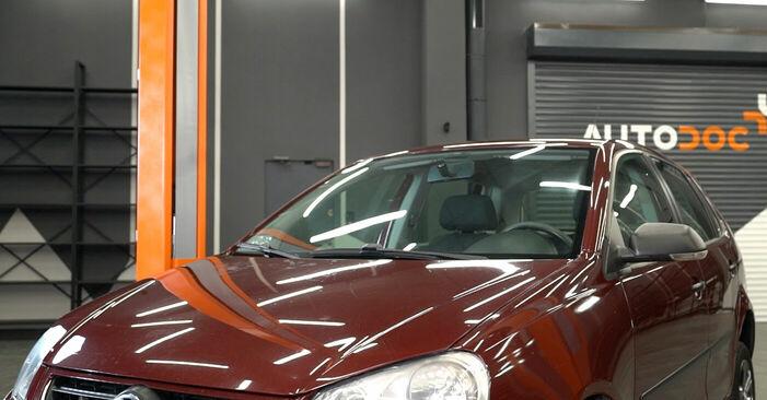 Pasikeiskite VW POLO (9N_) 1.4 TDI 2003 Stabdžių apkaba patys - internetinė instrukcija