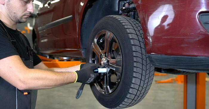 Kaip nuimti VW POLO 1.9 TDI 2005 Stabdžių apkaba - nesudėtingos internetinės instrukcijos