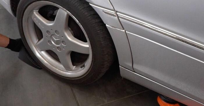 Wie Bremssattel MERCEDES-BENZ C-Klasse Limousine (W203) C 180 1.8 Kompressor (203.046) 2001 austauschen - Schrittweise Handbücher und Videoanleitungen