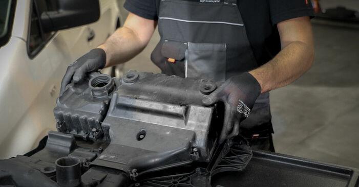Luftfilter am VW CADDY III Estate (2KB, 2KJ, 2CB, 2CJ) 2.0 TDI 2009 wechseln – Laden Sie sich PDF-Handbücher und Videoanleitungen herunter