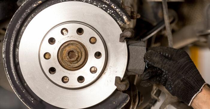 A4 Saloon (8E2, B6) 1.6 2001 Brake Pads DIY replacement workshop manual
