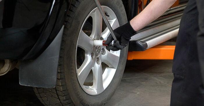 Byta Toyota RAV4 III 2.0 4WD (ACA30_) 2007 Bromsskivor: gratis verkstadsmanualer