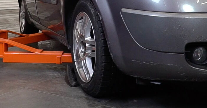 Keilrippenriemen Renault Scenic 2 1.6 2005 wechseln: Kostenlose Reparaturhandbücher
