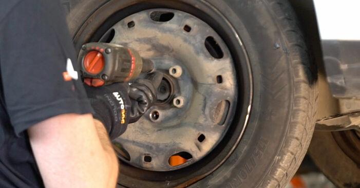 Wie VW POLO 1.9 TDI 2005 Bremsscheiben ausbauen - Einfach zu verstehende Anleitungen online
