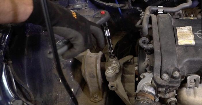 Hogyan Opel Astra g f48 1998 Motor csapágyzás cseréje - ingyenes PDF és videó-útmutatók