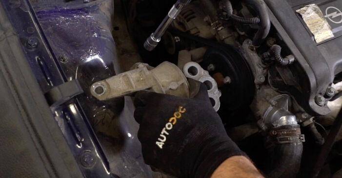 Cum să înlocuiți OPEL ASTRA G Hatchback (F48_, F08_) 1.6 16V (F08, F48) 1999 Suport motor – manualele pas cu pas și ghidurile video