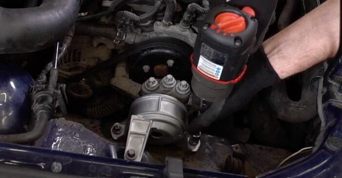 Колко време отнема смяната: Окачване на двигателя на Opel Astra g f48 2006 - информативен PDF наръчник
