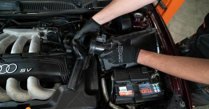 Wieviel Zeit nimmt der Austausch in Anspruch: Luftfilter beim Audi A3 8l1 1996 - Ausführliche PDF-Anleitung