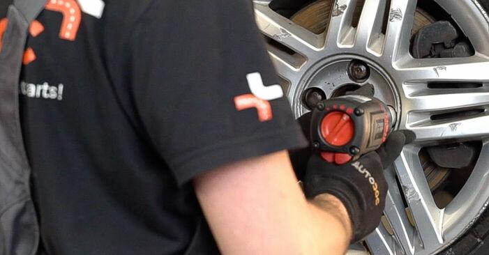 Wie RENAULT SCÉNIC 2.0 2007 Bremsbeläge ausbauen - Einfach zu verstehende Anleitungen online