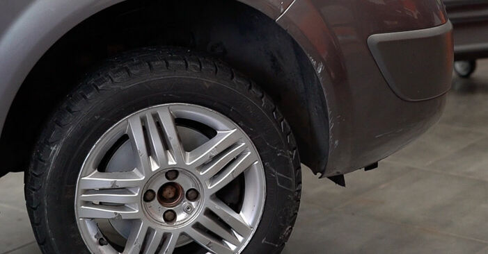 Changing Brake Discs on RENAULT SCÉNIC II (JM0/1_) 1.6 16V 2006 by yourself