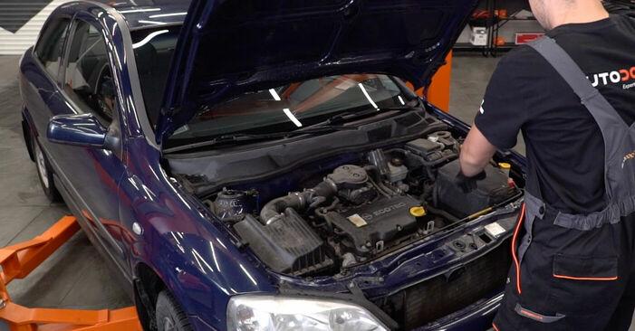 Kā nomainīt Bremžu šļūtene Opel Astra g f48 1998 - bezmaksas PDF un video rokasgrāmatas