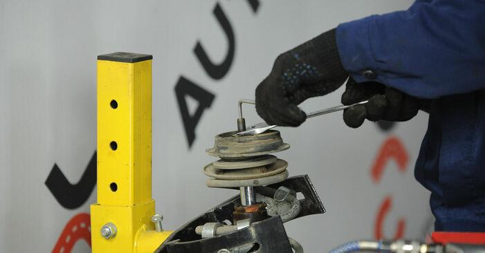 Стъпка по стъпка препоруки за самостоятелна смяна на Fiat Punto 188 2012 1.9 JTD Тампон Макферсон
