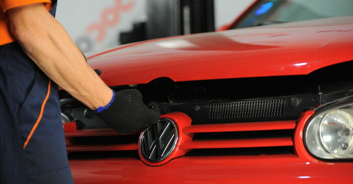 VW GOLF 2004 Fjäderbenslagring utbytesmanual att följa steg för steg