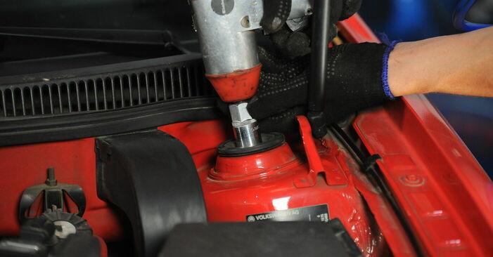 Byt Fjäderbenslagring på VW GOLF IV (1J1) 1.9 TDI 2000 själv