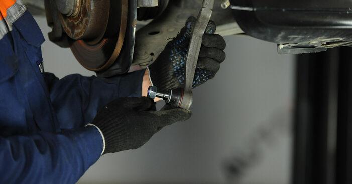 Austauschen Anleitung Spurstangenkopf am Mercedes W169 2005 A 180 CDI 2.0 (169.007, 169.307) selbst