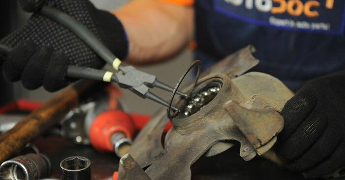 Wie man VW GOLF 1.8 T 2001 Radlager austauscht - Eingängige Anweisungen online