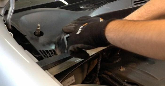 Priporočila korakov za DIY zamenjavo Citroen Xsara Picasso 2012 1.6 16V Blazilnik