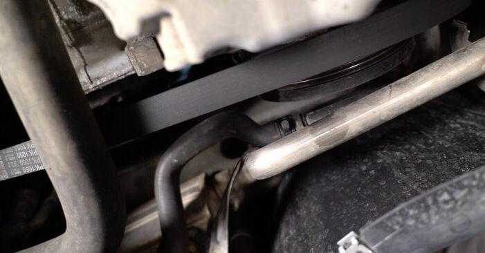 Svojpomocná výmena Klinový rebrovaný remen na VW TOURAN (1T1, 1T2) 1.4 TSI 2006