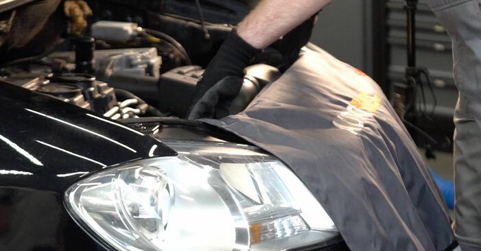 Kā nomainīt VW TOURAN (1T1, 1T2) 1.9 TDI 2004 Eļļas filtrs - pakāpeniskās rokasgrāmatas un video ceļveži