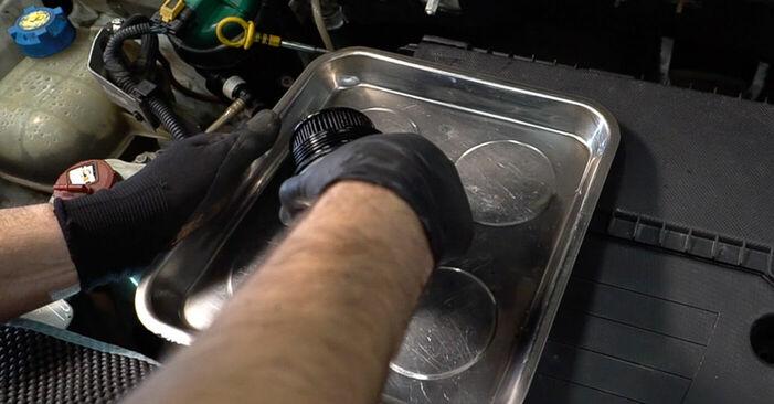 Tausch Tutorial Ölfilter am FIAT DOBLO Cargo (223) 2013 wechselt - Tipps und Tricks