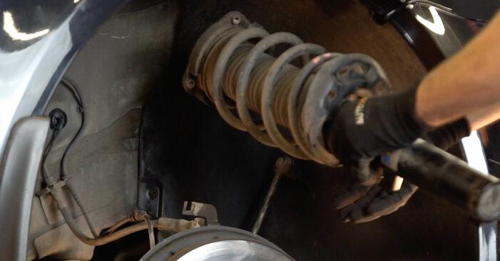 Wie man VW TOURAN (1T1, 1T2) 1.9 TDI 2004 Stoßdämpfer wechselt - Schritt-für-Schritt-Leitfäden und Video-Tutorials