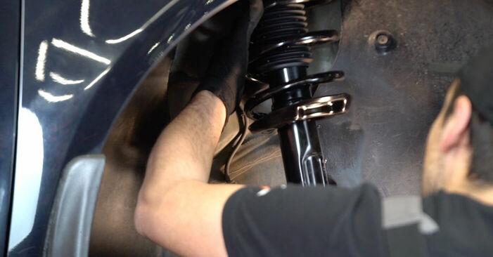 Wie man VW TOURAN 1.6 FSI 2007 Stoßdämpfer austauscht - Eingängige Anweisungen online