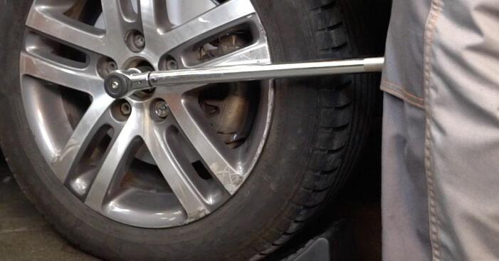 Wie man Stoßdämpfer beim VW TOURAN (1T1, 1T2) 2008 auswechselt – Downloaden Sie sich PDF-Tutorials und Videoanleitungen herunter
