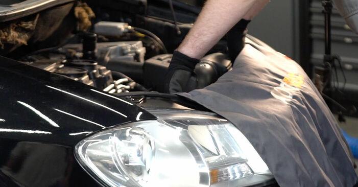 Wie man VW TOURAN (1T1, 1T2) 1.9 TDI 2004 Federn austauscht - Schrittweise Handbücher und Videowegleitungen