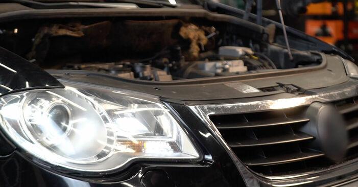 Wie man VW TOURAN 1.6 FSI 2007 Federn wechselt – Leicht verständliche Wegleitungen online