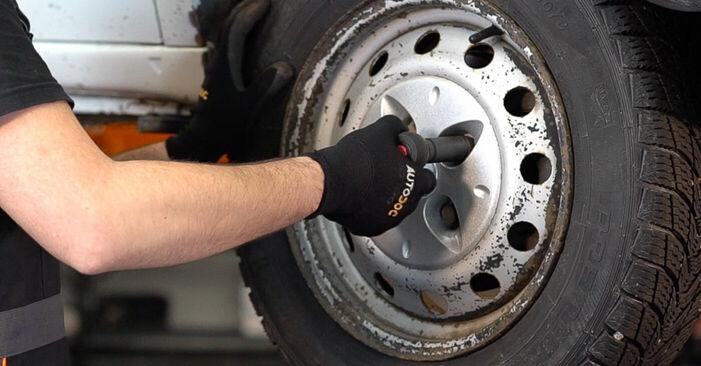Wie FIAT DOBLO 1.3 JTD 16V 2005 Bremsscheiben ausbauen - Einfach zu verstehende Anleitungen online