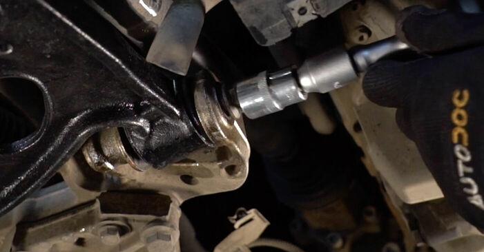 Touran 1t1 1t2 2.0 TDI 16V 2005 Draagarm remplaceren: kosteloze garagehandleidingen