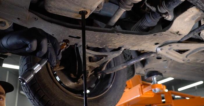 RENAULT KANGOO 2004 Filtre à Huile manuel de remplacement étape par étape