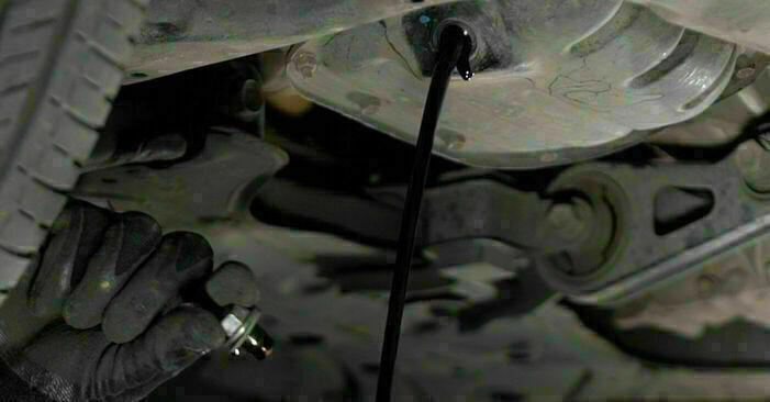 TOYOTA PRIUS 2002 Oljefilter utbytesmanual att följa steg för steg