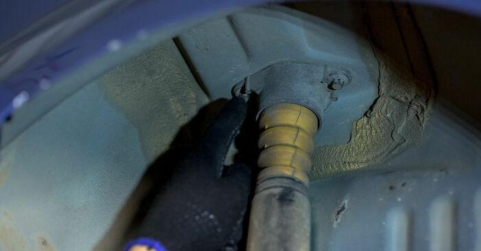 Domlager am FORD Fiesta Mk5 Schrägheck (JH1, JD1, JH3, JD3) 1.6 TDCi 2006 wechseln – Laden Sie sich PDF-Handbücher und Videoanleitungen herunter