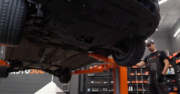Стъпка по стъпка препоруки за самостоятелна смяна на Ford Focus mk2 Седан 2008 1.6 Ti Тампон Макферсон